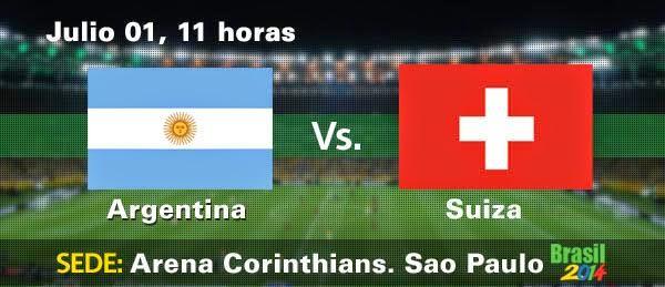 Partido Argentina vs Suiza Octavos de Final