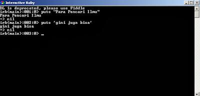Instalasi dan Memulai Program Ruby