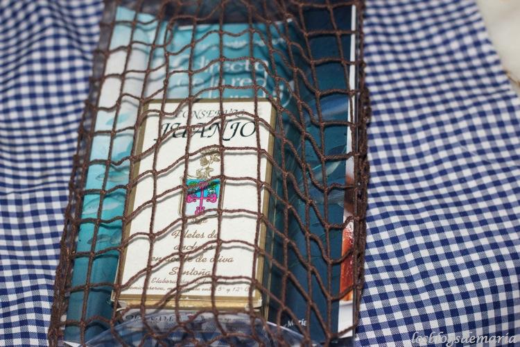 Crujiente de calabacín relleno de rulo de cabra con anchoa al pedro jiménez