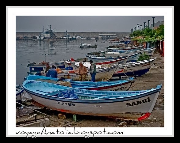 Boats at Fishermen's Port at Black Sea