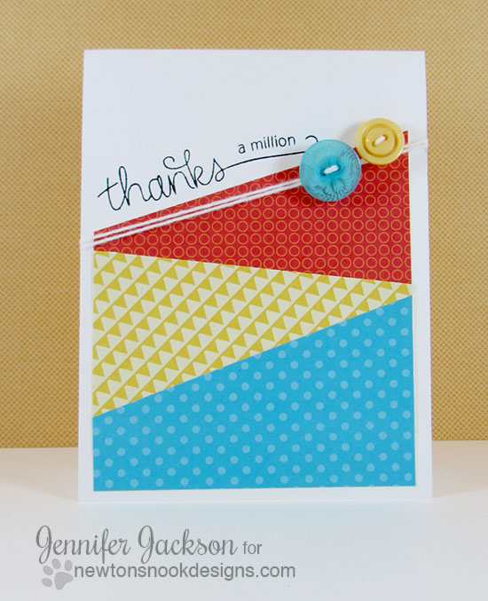 Clean and Simple Thanks Card by Jennifer Jackson | Simply Sentimental Stamp | Newton's Nook Designs