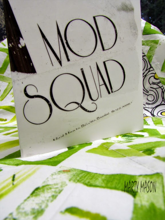 modern quilting logo - a note card by marty mason