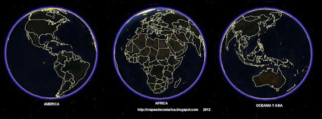 La Tierra, vista nocturna del google earth