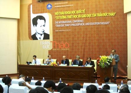 """Hội thảo khoa học quốc tế """"Tư tưởng triết học và giáo dục của Trần Đức Thảo"""""""