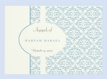 Lovely muslim aqiqah invitation for boys and girls islamic sep stopboris Image collections