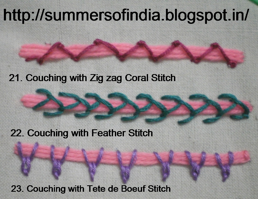 Summersofindia couching stitches