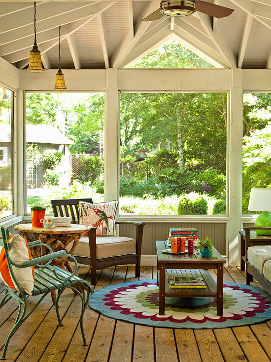 Modern furniture decorating porches ideas for summer 2013 - Screened porch furniture ideas ...