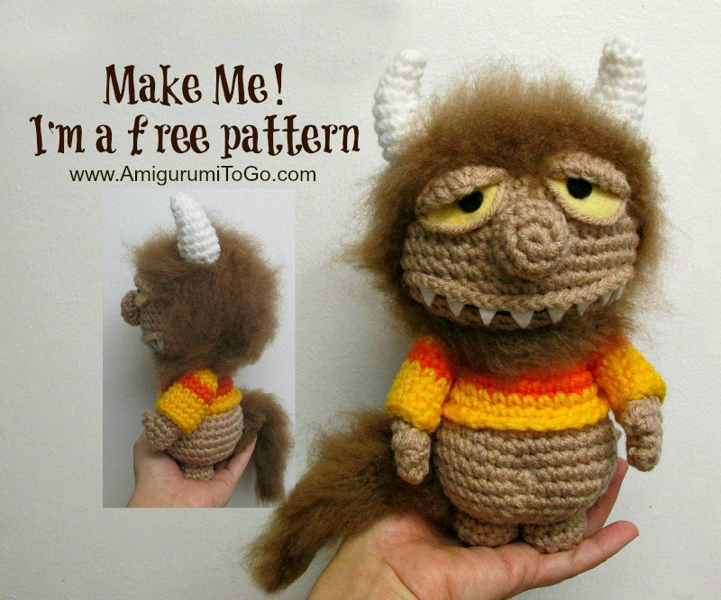 where the wild things are homemade doll crochet