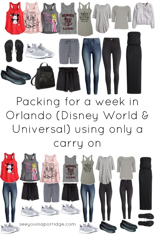 Packing For A Week In Orlando Disney World Amp Universal