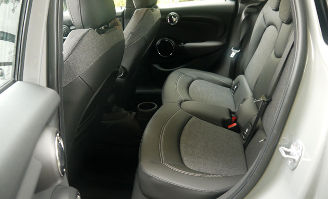 Mini Cooper D five-door rear legroom