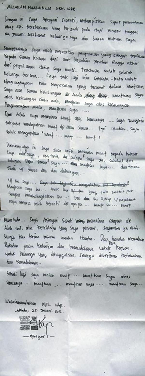 Afriyani Susanti - Surat Permohonan Maap