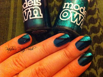 Green Glitter Army Nails Art Models Own