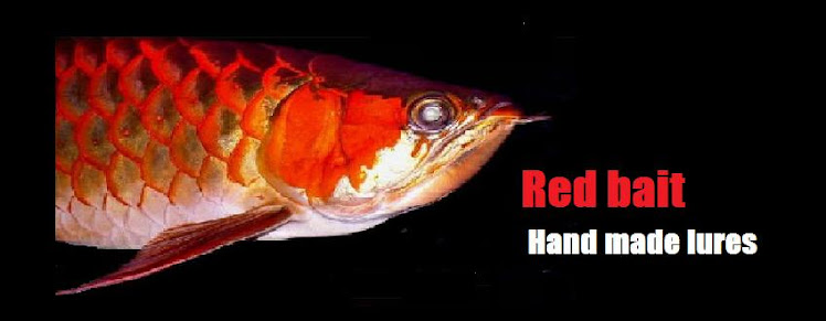 Red bait      hand made ruler