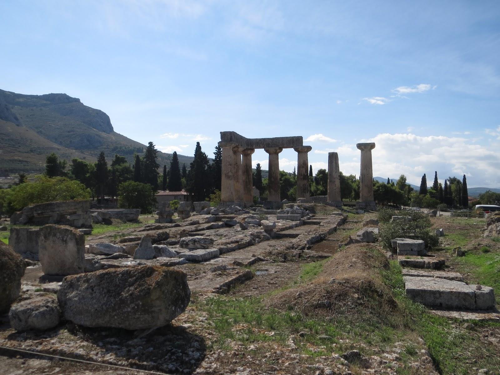londinoupolis: The Temple of Apollo, Ancient Corinth