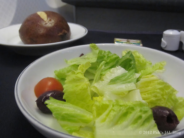 Fresh salad and gourmet bread