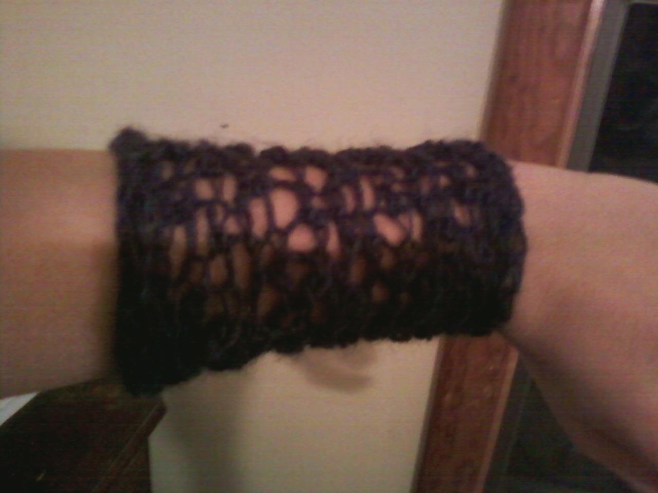 Knitting Yrn K2tog : The knitting otaku lacy armwarmers