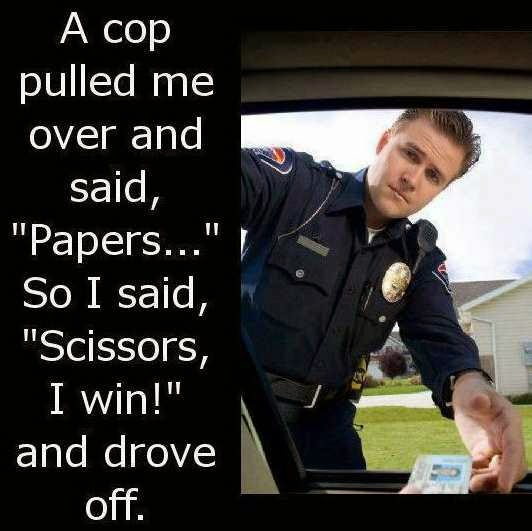 When asked for Papers, a scissor can make a way.
