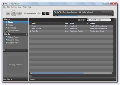 Nightingale , AUDIO PLAYER, cross platform audio player , mac softwares, linux softwares, windows softwares,