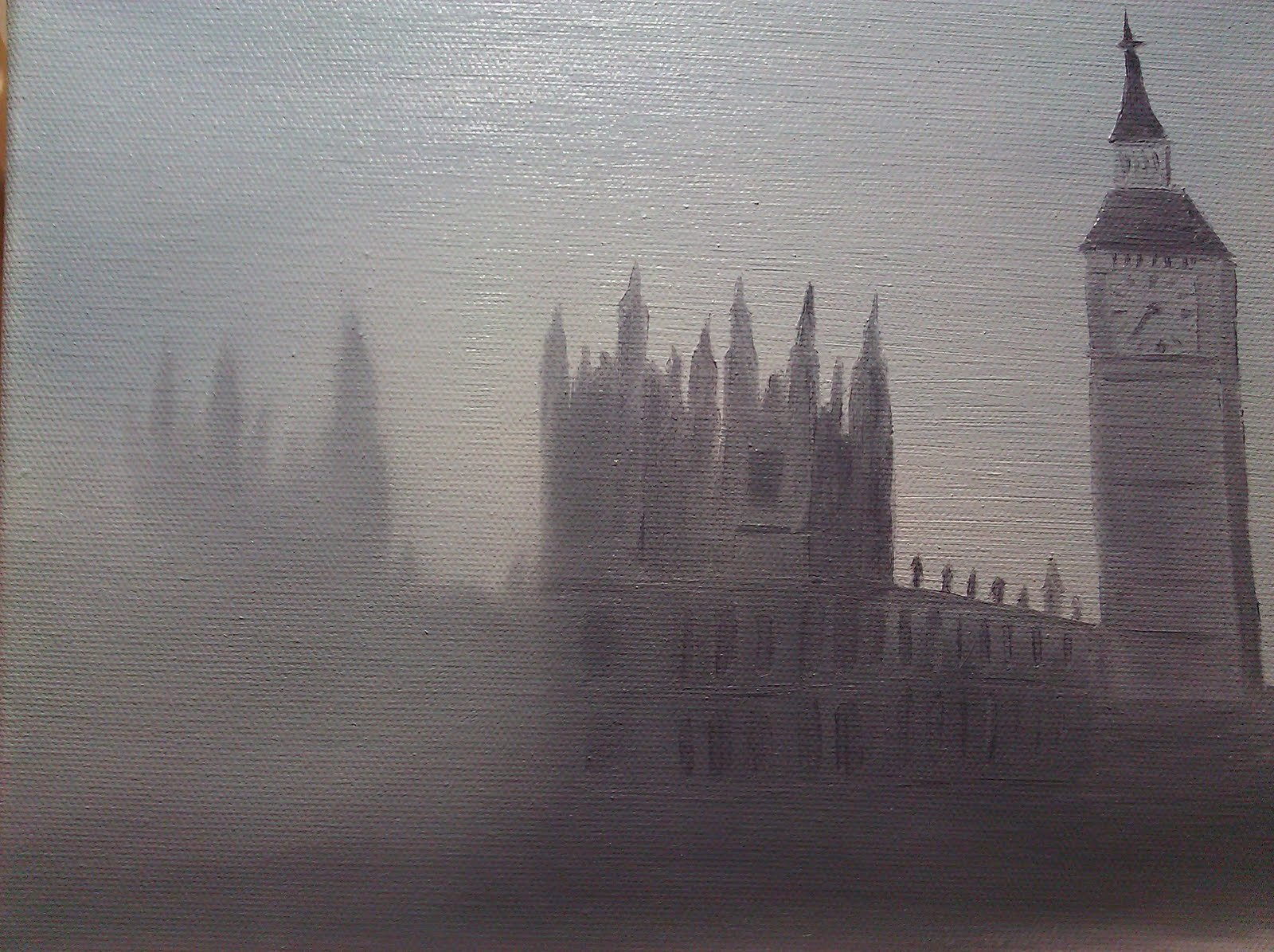 Dry Fog Painting : Happy painter london fog