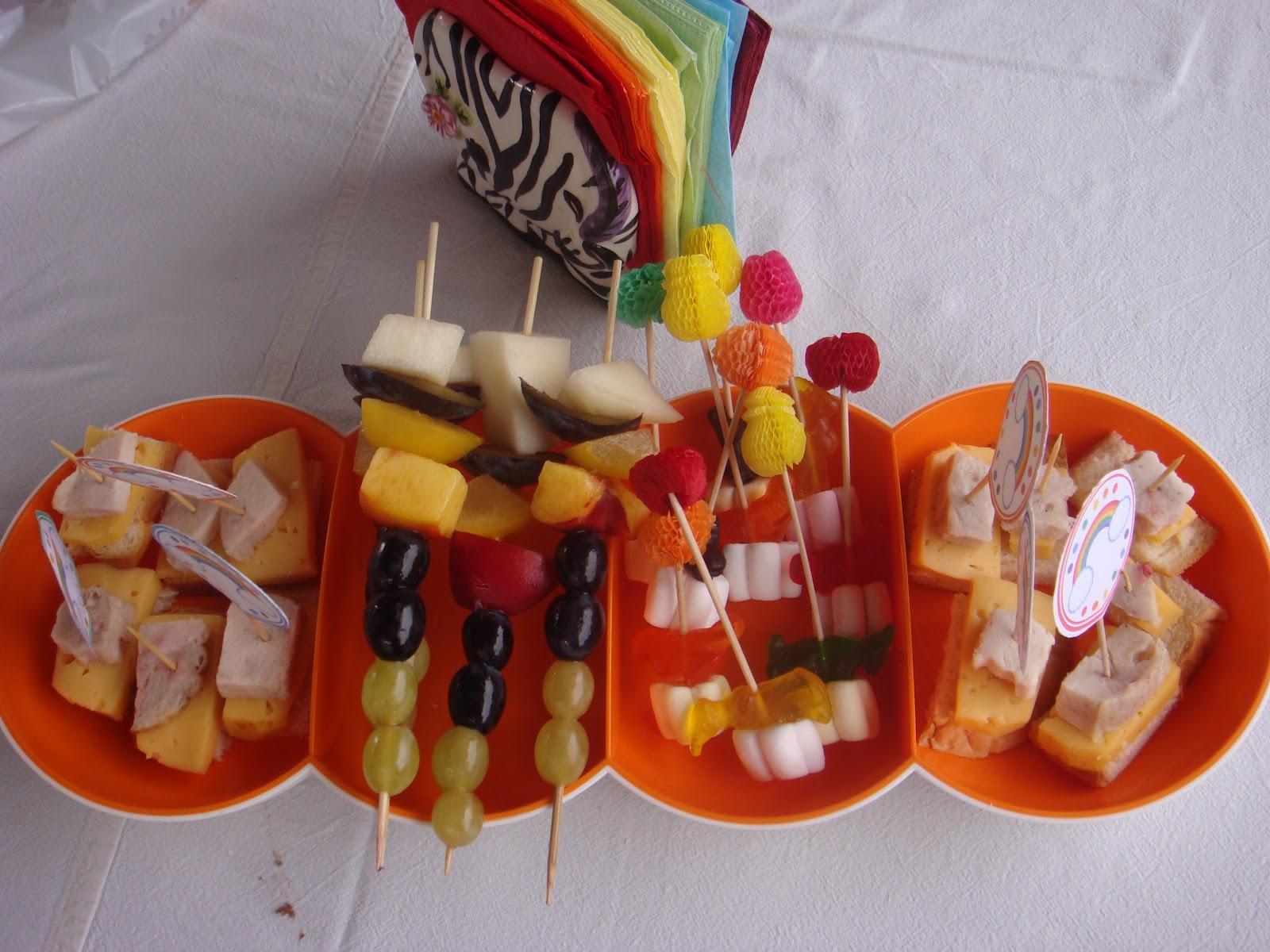 Канапе детям на день рождения рецепты