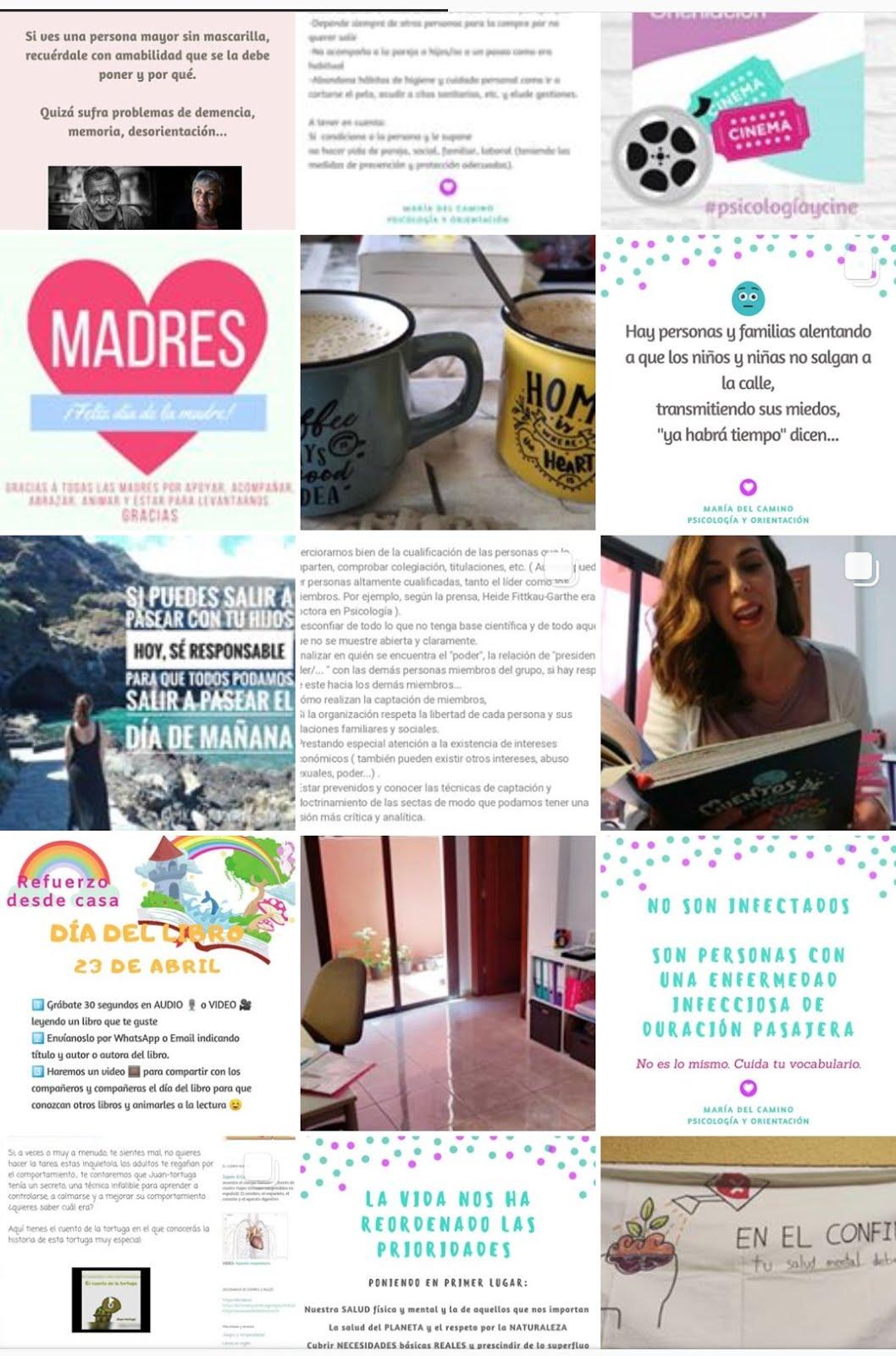 Instagram @psicologiaorientacion