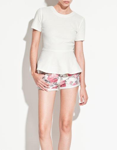 Camiseta peplum Zara primavera/verano 12