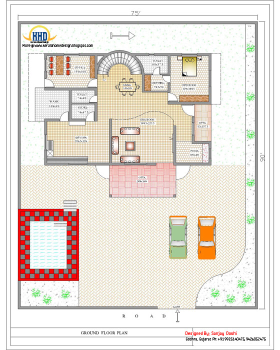 Duplex House Ground Floor Plan - 392 Sq M (4217 Sq. Ft.) - February 2012