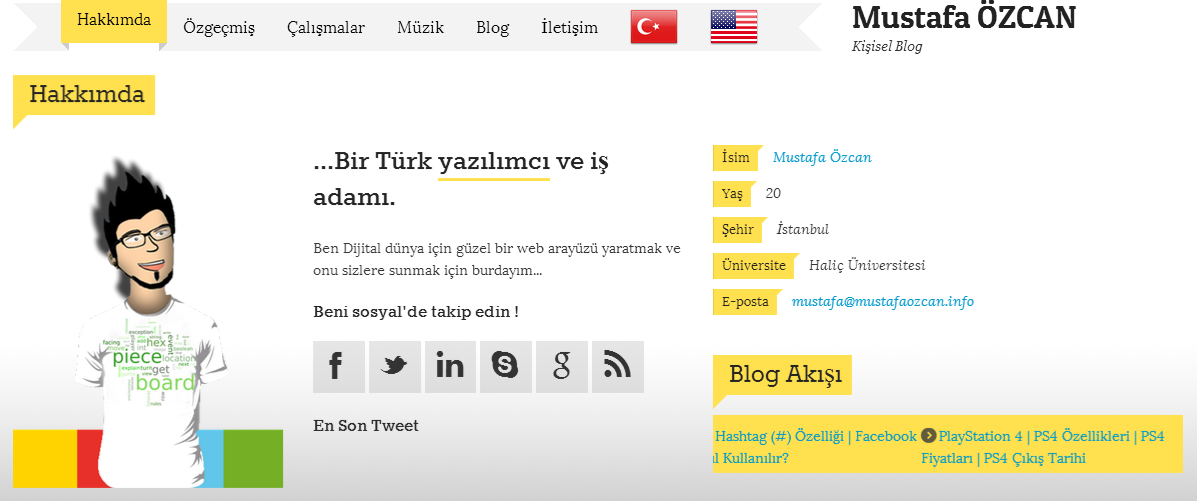 Yeni Tasarım | Mustafa Özcan | mustafaozcan.info