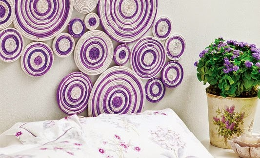 Newspaper wall decor project art craft gift ideas for Art and craft ideas for room decoration