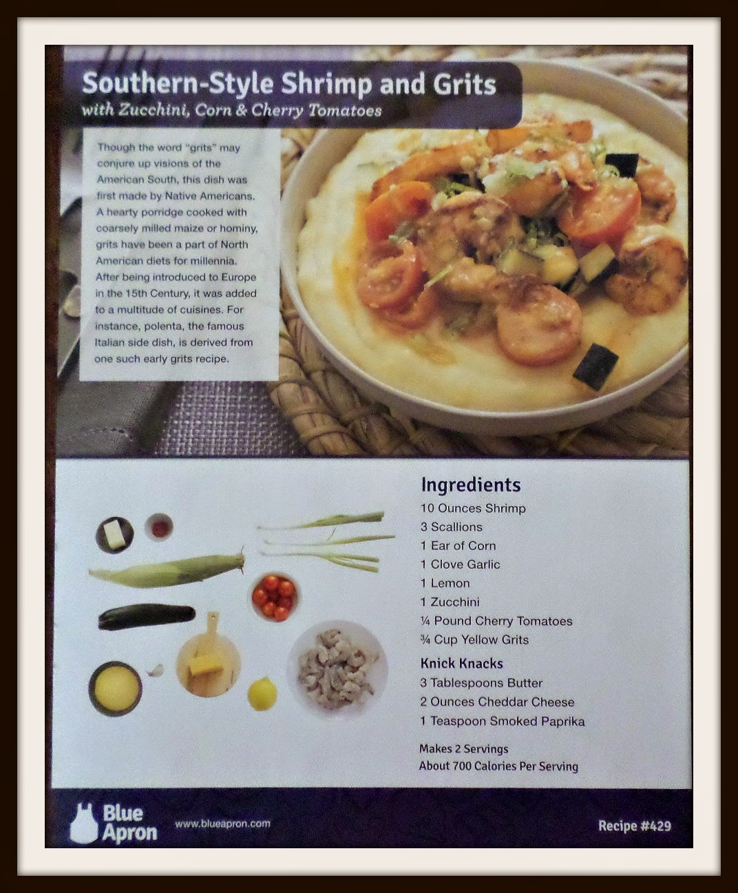 Blue apron yellow grits - Southern Shrimp Grits Hubby And I Always Wanted To Give This Recipe A Try We Ll Be Making This Recipe For Saturday Lunch