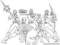 Gambar Mewarnai Film Seri Power Ranger