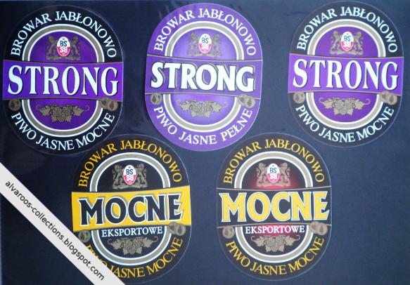 Beer labels collection: Browar Jabłonowo: Strong, Mocne Eksportowe
