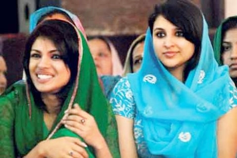 Parineeti chopra and priyanka chopra together