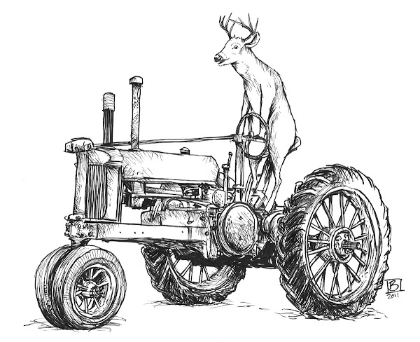 John Deere Tractor Clip Art Coloring Pages