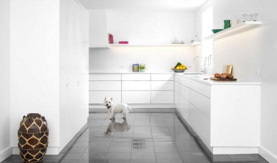 Diseno De Cocinas En Color Blanco Con Caricia Escandinava