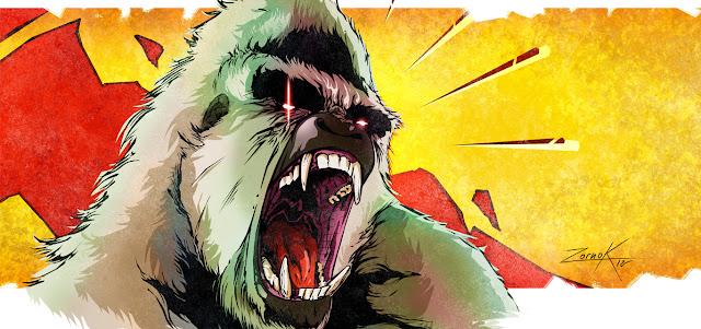 Gorila mono king kong grito