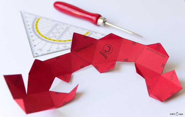 Origami Apfel falten