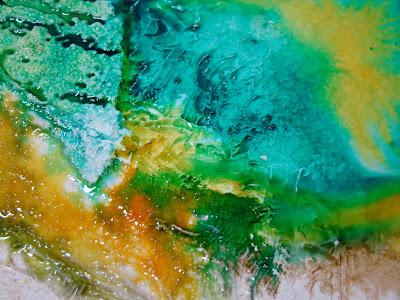 incrustation travail de la matière stage peinture