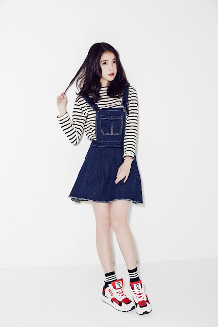 Steal IU's Style: The Denim Jumper