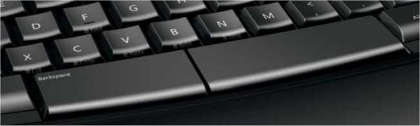clavier Microsoft Sculpt Comfort Keyboard - zoom sur le barre espace