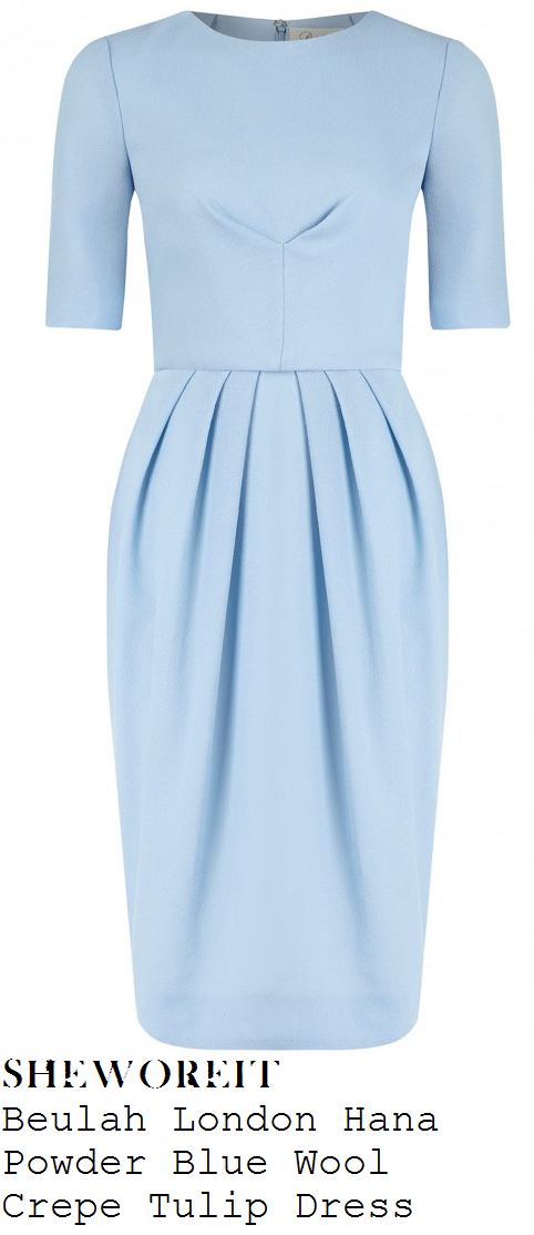 holly-willoughby-light-blue-half-sleeve-tulip-dress-this-morning