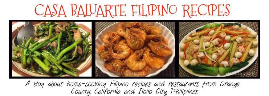 CASA BALUARTE FILIPINO RECIPES
