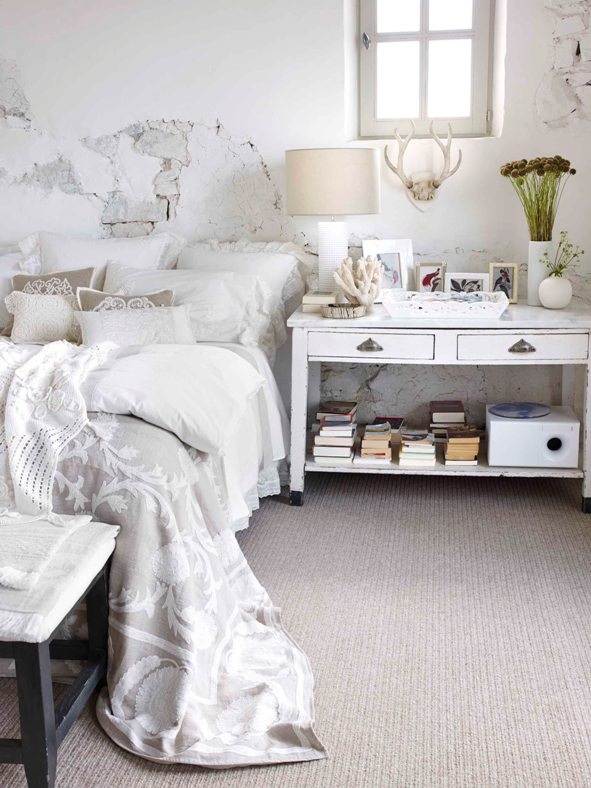 Habitaciones blancas white bedroom for Zara home bedroom ideas
