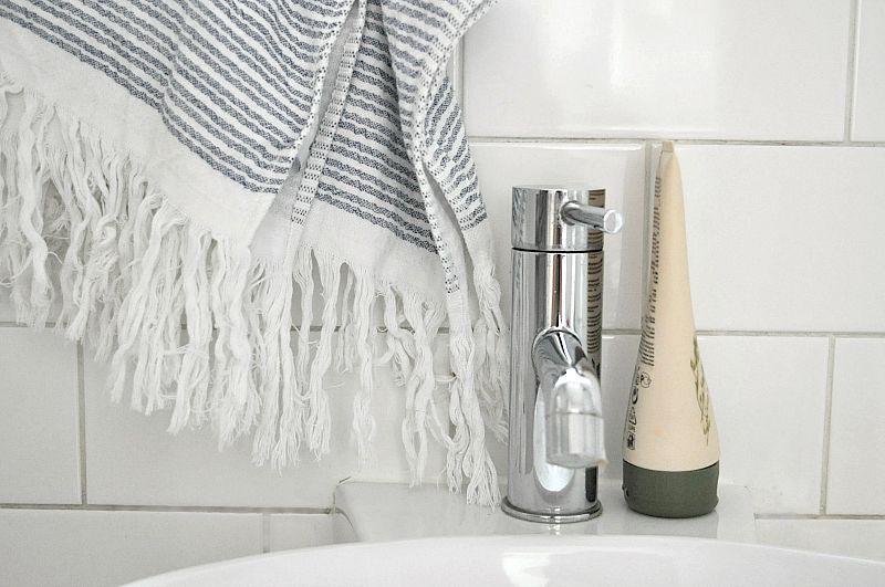 Bathroom accessories with soak & sleep towels