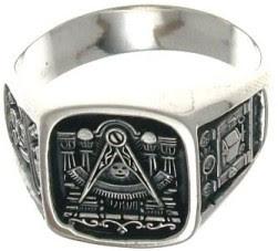 anillo de plata mason