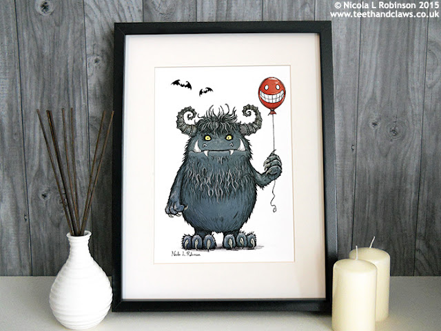 © Nicola L Robinson 2015 www.teethandclaws.co.uk Monster Art Print