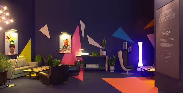 El lounge de Affligem, en Millesime Madrid, diseñado por Carmen Basarona.