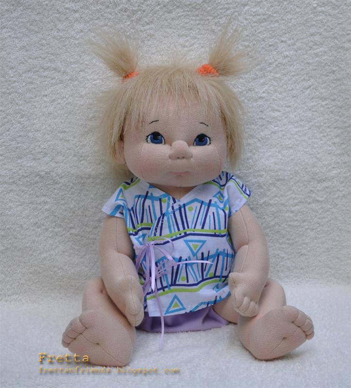 Fretta 38 Cm 15 Quot Blonde Hair Blue Eyes Soft Sculpture