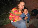 Claudia Patricia con su hijo Diego Andrés