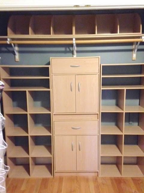 scrapbooking closet